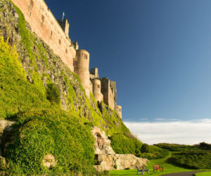 Close up of the side of Bamburgh Castle