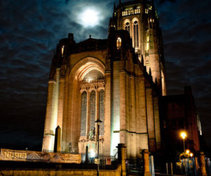 liverpool cathedral giles gilbert scott by night