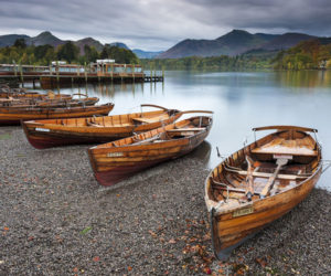 The Lake District, boats by the lake