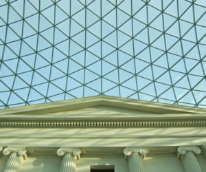 Close up of the great court ceiling in the british museum